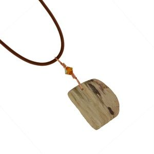Arizona Petrified Wood Unisex Wirewrap Necklace